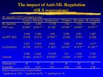 the impact of anti ml regulation ols regressions32