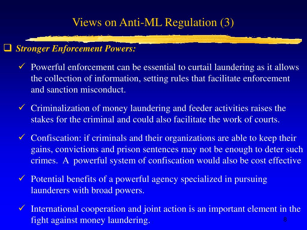 Views on Anti-ML Regulation (3)