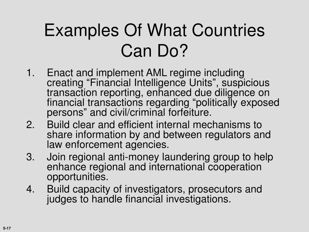 Examples Of What Countries Can Do?