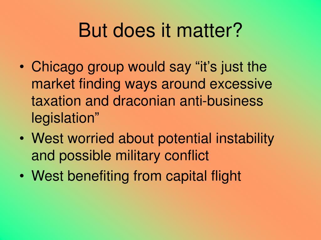 But does it matter?