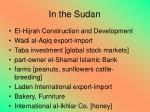 in the sudan