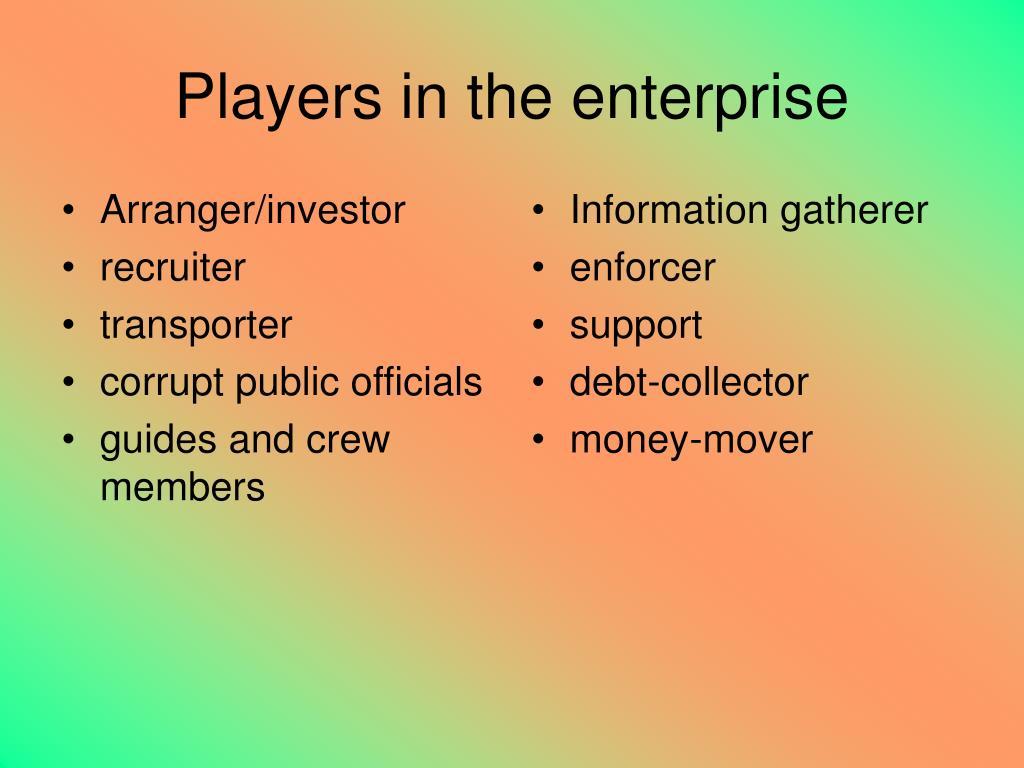 Arranger/investor
