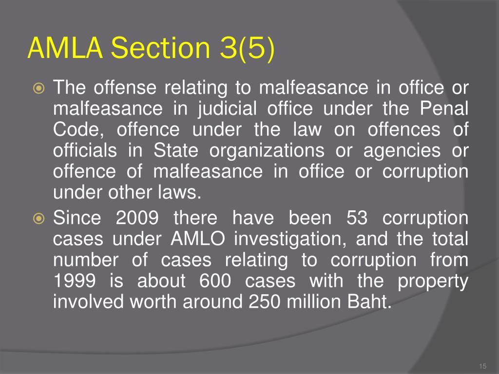 AMLA Section 3(5)