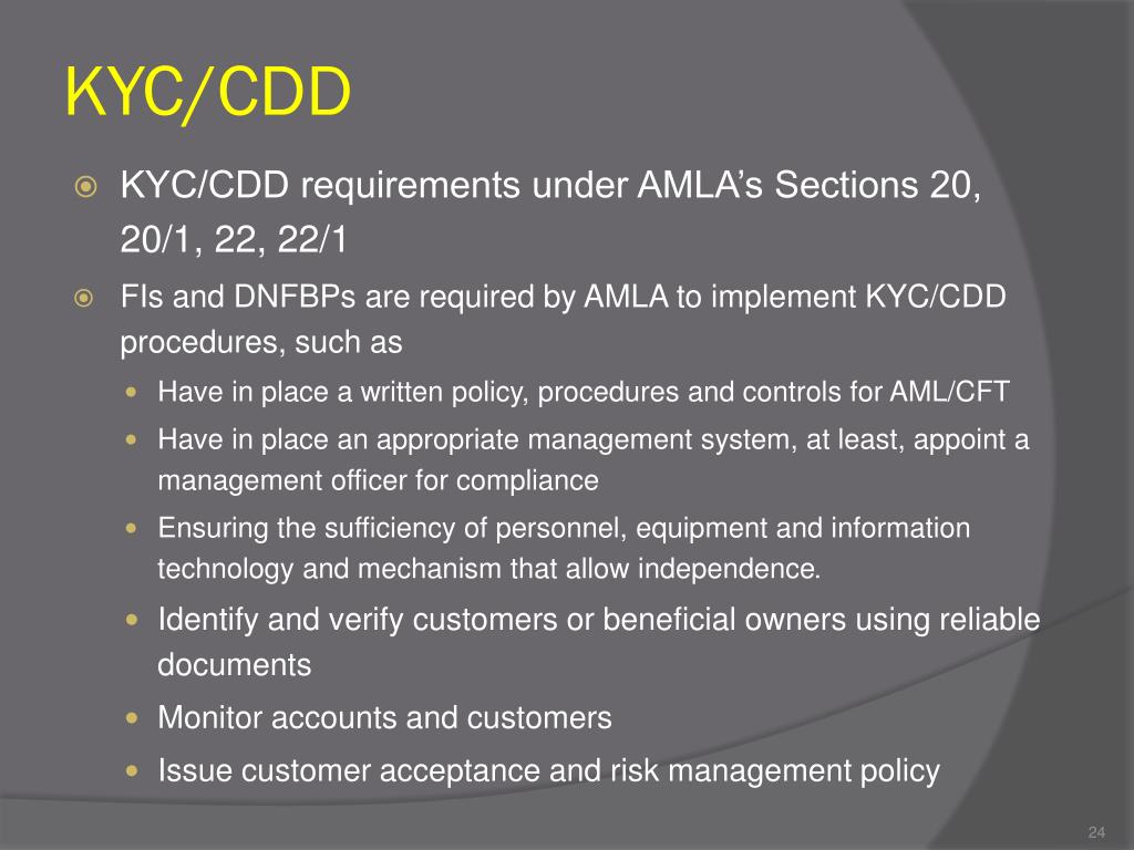 KYC/CDD