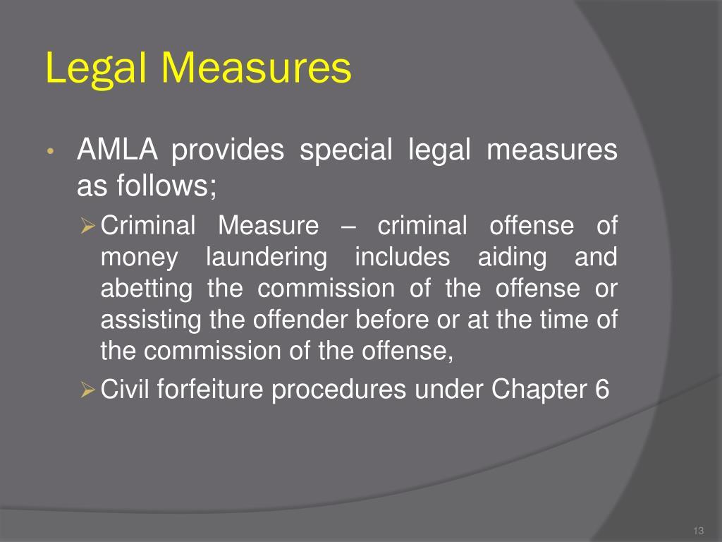 Legal Measures