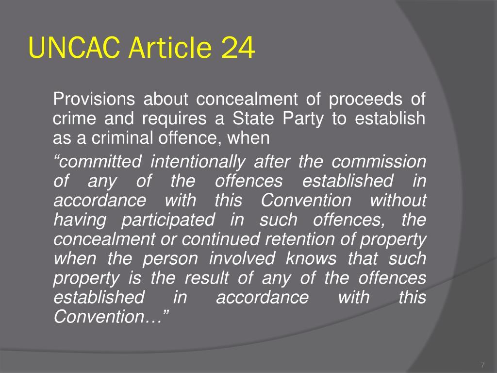 UNCAC Article 24