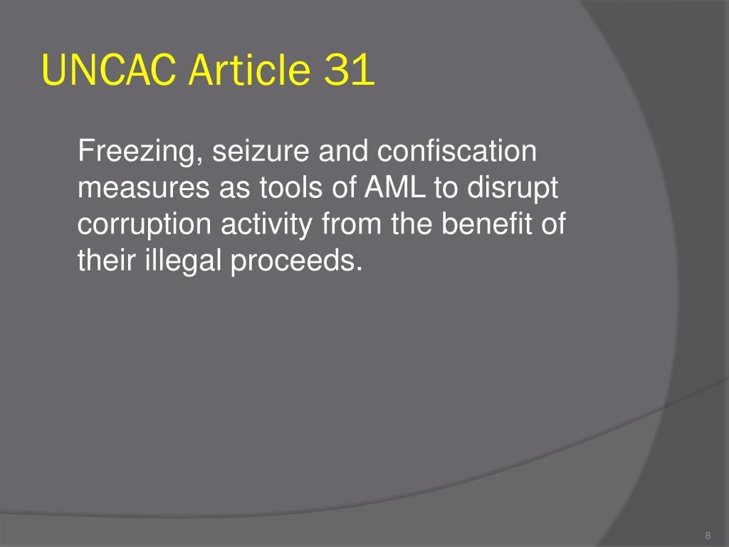 UNCAC Article 31