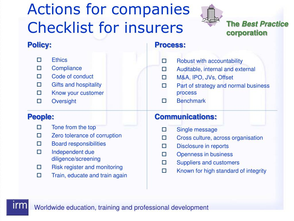 Actions for companies