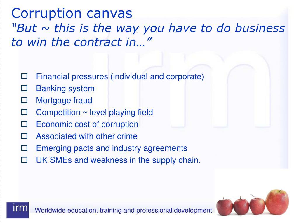 Corruption canvas