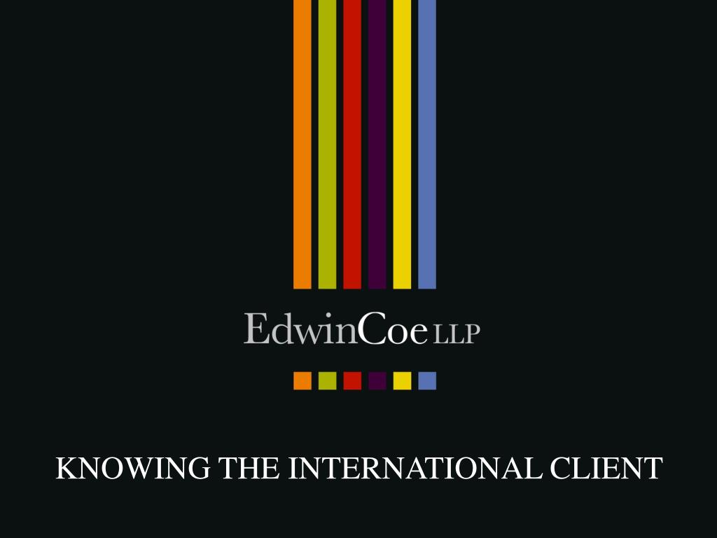knowing the international client l.