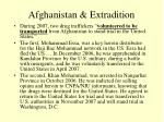 afghanistan extradition