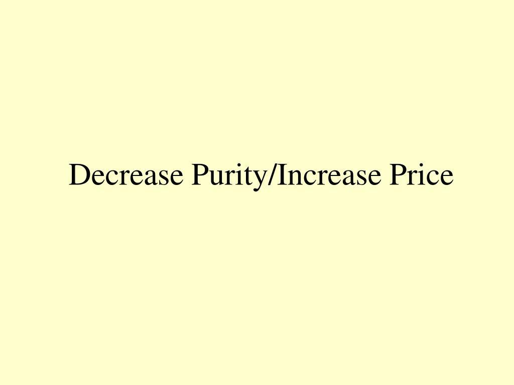 Decrease Purity/Increase Price