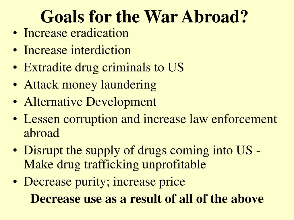 Goals for the War Abroad?