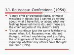 j j rousseau confessions 1954
