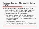 jacques derrida the law of genre 1980