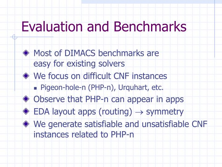 Evaluation and Benchmarks