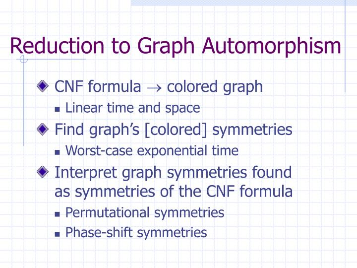 Reduction to Graph Automorphism