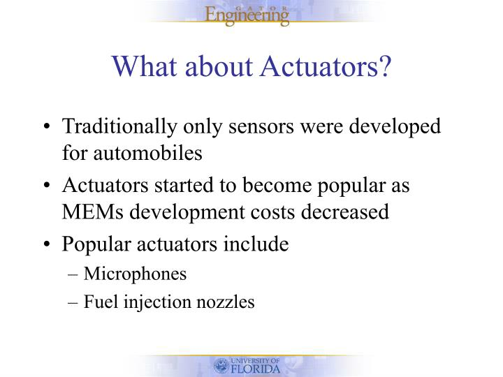 What about Actuators?
