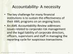 accountability a necessity