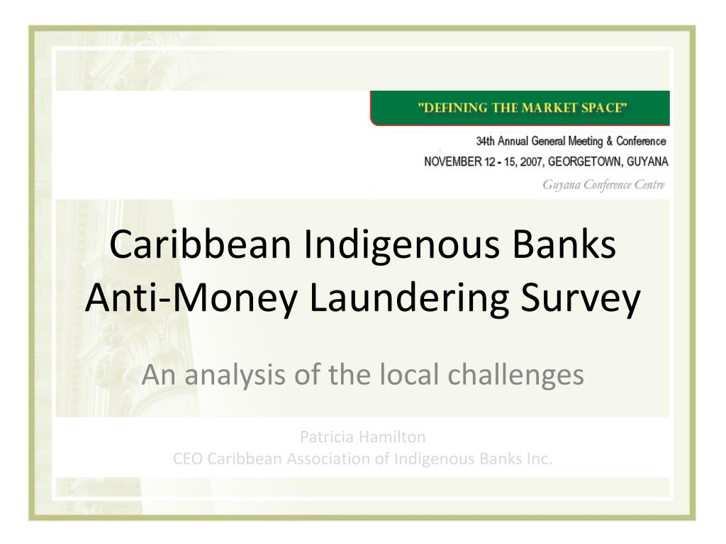 caribbean indigenous banks anti money laundering survey l.