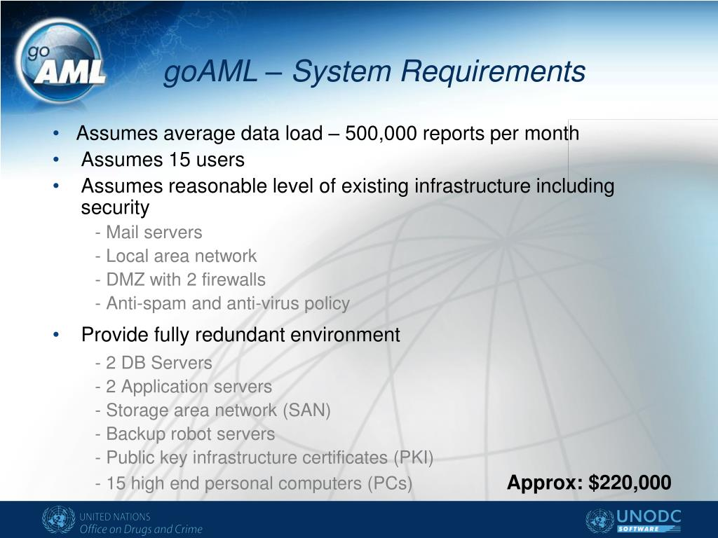 goAML – System Requirements