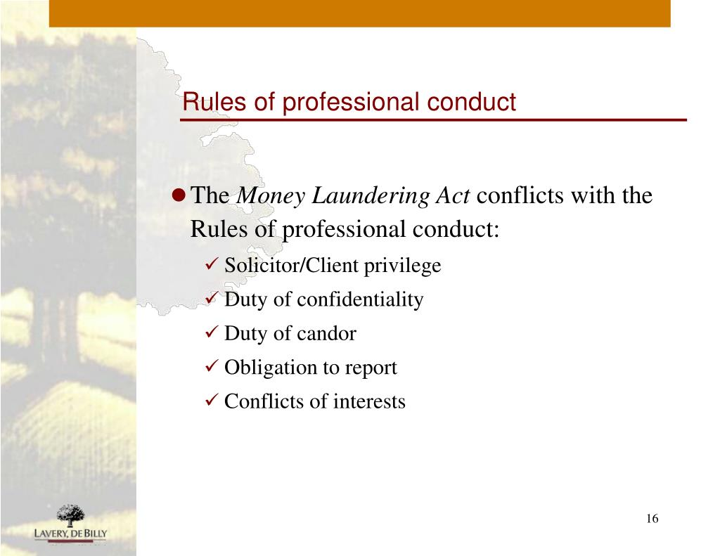 Rules of professional conduct