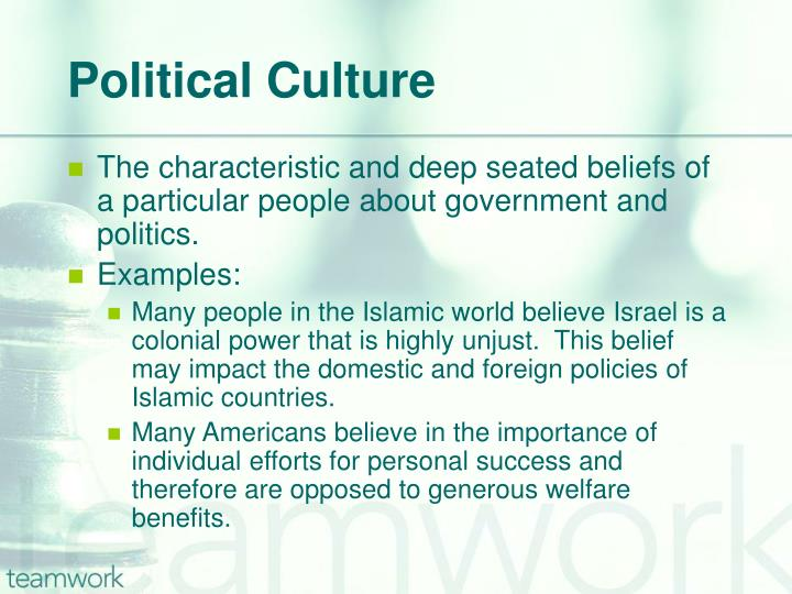 examples of political culture