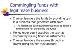 commingling funds with legitimate business
