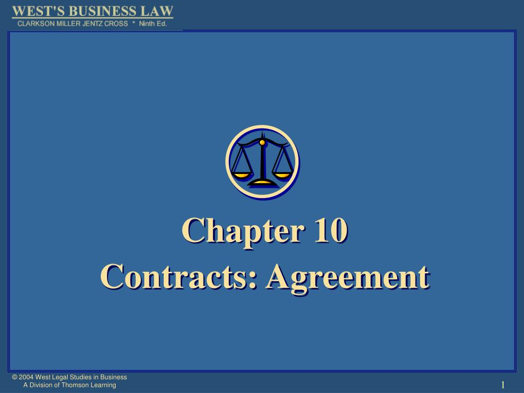 chapter 10 contracts agreement