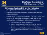 business associates ba disclosure of phi
