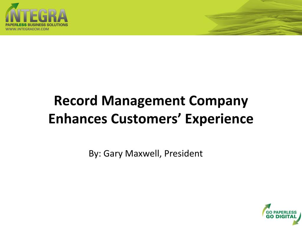 record management company enhances customers experience