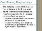 cost sharing requirements19
