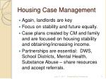 housing case management