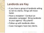 landlords are key