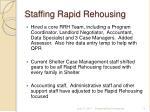 staffing rapid rehousing
