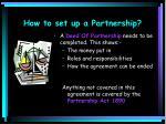 how to set up a partnership