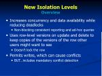 new isolation levels overview1