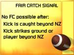 fair catch signal68