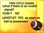 fair catch signal69