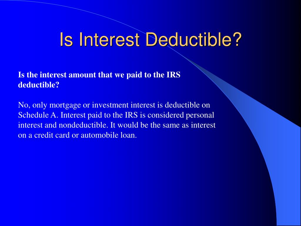 Is Interest Deductible?