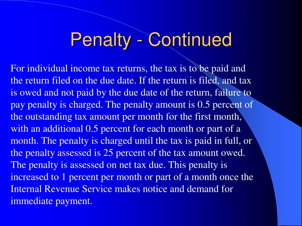 Penalty - Continued