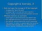 copyright licenses 2