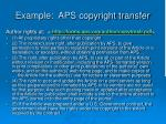 example aps copyright transfer