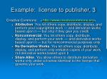 example license to publisher 3