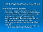 hot licensing issues scientists11