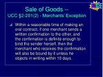 sale of goods ucc 2 201 2 merchants exception