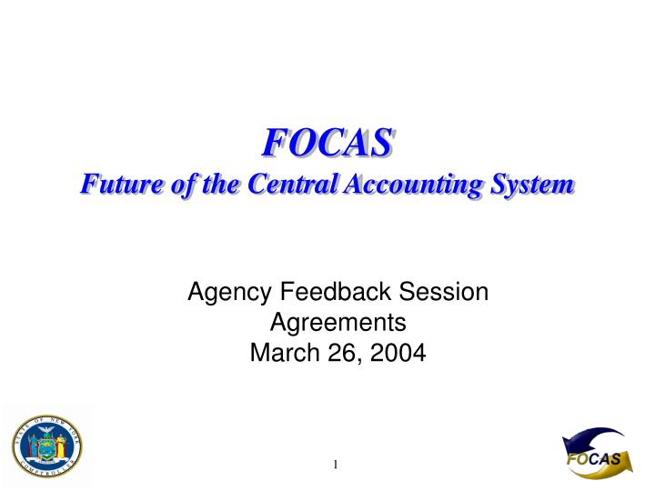 focas future of the central accounting system n.