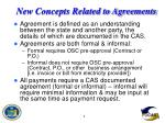 new concepts related to agreements