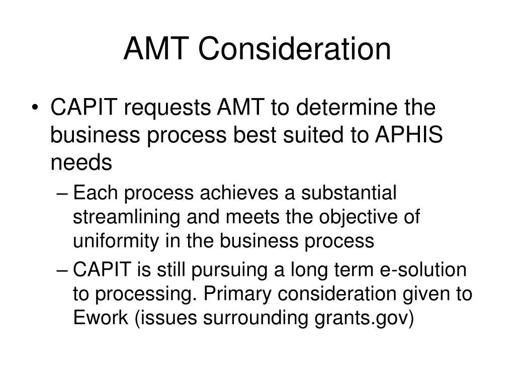 AMT Consideration