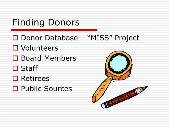 Finding donors